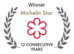 Michelin Star winner for 12 consecutive years
